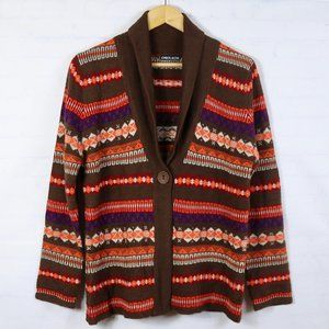 Vintage Chunky Grandpa Cardigan Sweater S M